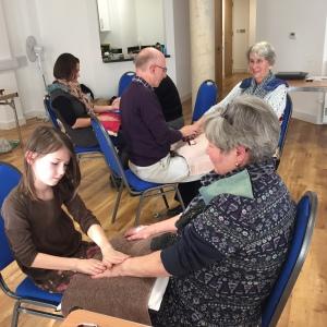 Hand massage workshop