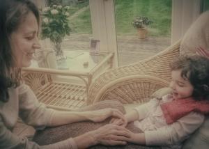 Laura and Neave hand massage 1