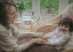 Laura and Neave hand massage 2