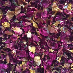 part dried rose petals