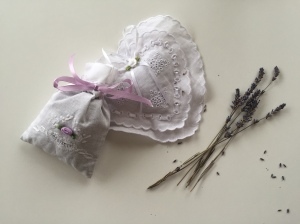 Appreciating the lavender bags in my wardrobe each morning when I choose what to wear.