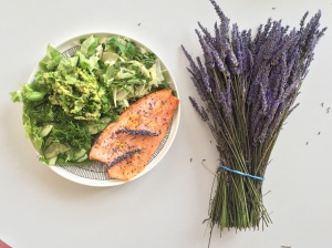 Rainbow trout and lavender